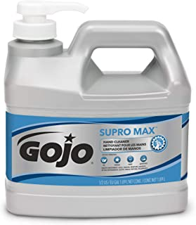 GOJO SUPRO MAX Hand Cleaner,  1/2 Gallon Heavy Duty Hand Cleaner Pump Bottle (Pack of 4) – 0972-04