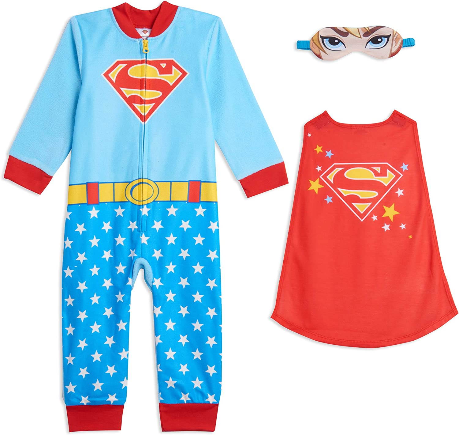 DC Comics Justice League Batgirl Supergirl Wonder Woman Costume Onesie Pajama Coveralls : Clothing, Shoes & Jewelry