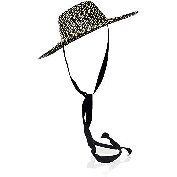 GIGI BURRIS Millinery Aloha Hat with Neck Ties | Black & Pina