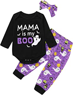 4Pcs Halloween Outfit Set Baby Boys Girls Funny Romper