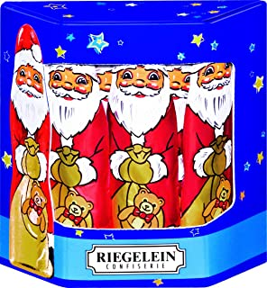 Riegelein Solid Santa's in Gift Box - 10 Pieces