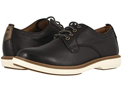 Florsheim Kids Supacush Plain Toe Ox, Jr. (Toddler/Little Kid/Big Kid) (Black Smooth/White Sole) Boy