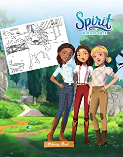 Spirit Riding Free Coloring Book: 50+ GIANT Great Pages with Premium Quality Images. Lovely coloring books, creative vivid...