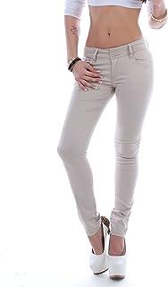 Damen Jeans Hose 7//8 Röhrenjeans kurz Jeanshose Damenjeans Hüftjeans Röhre ★D4-2