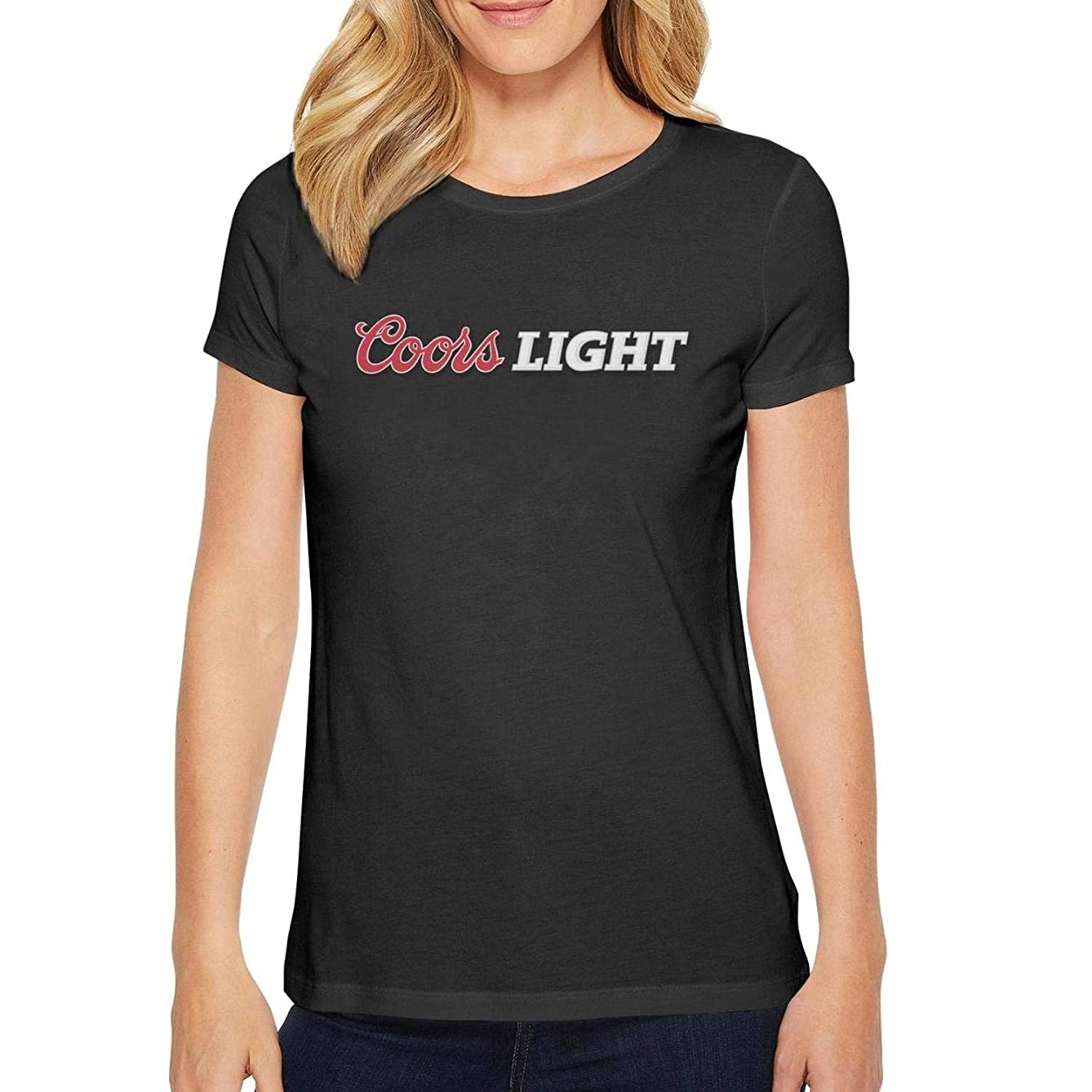 iorty rtty Beautiful Women top Short Sleeve Adolph-Coors-Beer- Casual Tshirts