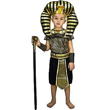 SEA HARE Disfraz de faraón Egipcio para niños (S:4-6 años): Amazon ...