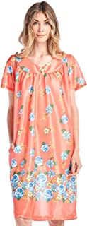 Casual Nights Women's Short Sleeve Muumuu Lounger Dress