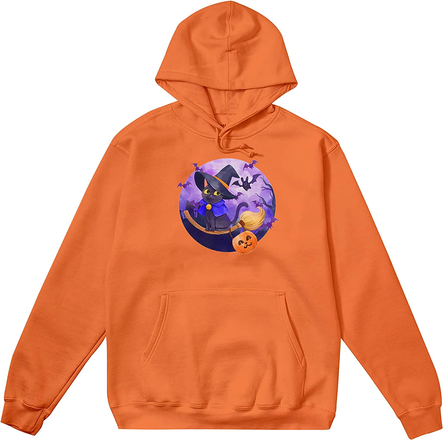 Cat Witch Halloween 2021 Gift For Halloweens Day Gift Hoodie, Sh
