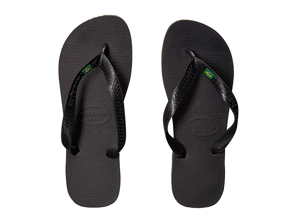 f908a7991 Havaianas Brazil Flip Flops (Black) Women