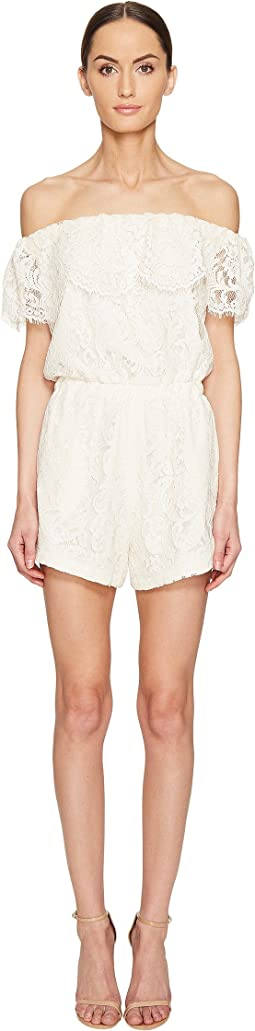 Sina Lace Off the Shoulder Romper