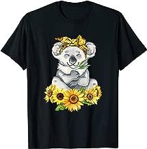 Koala On Sunflower Hippie Tshirt Cute Koala Lover Gifts T-Shirt