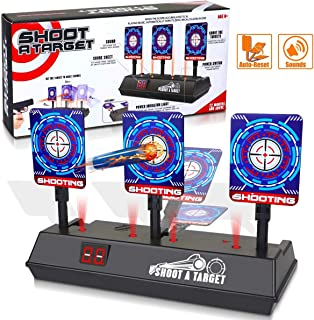 POKONBOY Electronic Target Fit for Nerf Guns, Auto Reset Digital Scoring Targets for Shooting Practice for Boys Girls Kids...