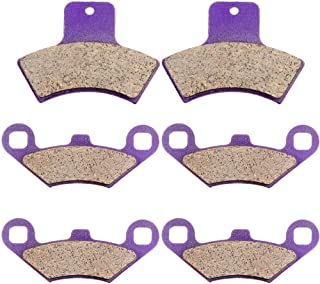 Carbon Fiber Brake Pads ECCPP Motorcycle Replacement Front and Rear Braking Pads Kits Set for 1998-2002 POLARIS 500 Sportsman Worker RSE EBS