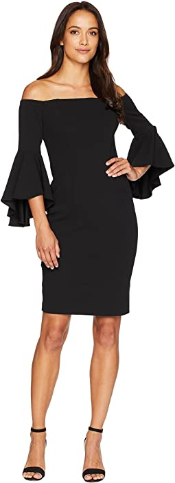 Off the Shoulder Dramatic Sleeve Sheath Dress CD8B15DT