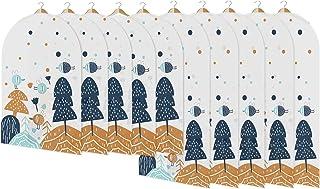 PTN Housses de Vêtements, 10Pack Lavable Anti-Poussière Housse pour Costume, Anti Poussière Etanche Mite Humidité Sac de V...
