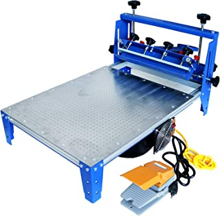 TECHTONGDA Vacuum Screen Printing Press Micro-Registration 20x24 Inch Silk Screen Printing Machine with Stainless Steel Pallet