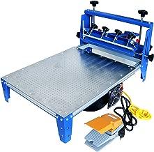 TECHTONGDA Vacuum Screen Printing Press Micro-Registration 20x24 Inch Silk Screen Printing Machine with Stainless Steel Pallet