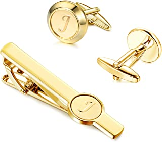 Best gold cufflinks and tie clip Reviews