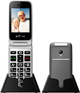 "Artfone 3G Senior Flip Cell Phone Unlocked,AT&T Big Button Mobile Phone for Elderly with Charging Dock and 2.4"" Large Scre..."