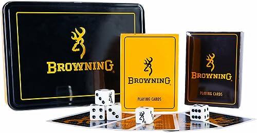 brauning Men's Buckmark Card and Dice Tin Set One Größe Multi One Größe by brauning