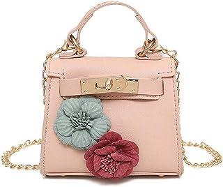 Womens PU Mini Fashion Flower Crossbody Shoulder Bag