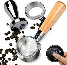 Coffee Bottomless Portafilter 51mm Apply for DeLonghi EC680/EC685 Coffee Machine, Stainless Steel Cup Filter Basket, Inclu...