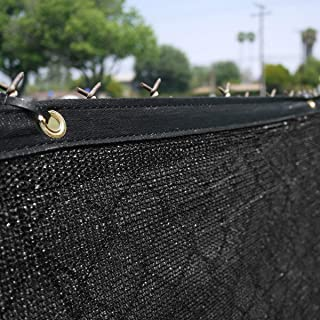 Clevr 6' x 50' Heavy Duty Black Privacy Screen Fence Commercial Grade w/Anti-Rust Grommets 140GSM 88% Blockage UV Resisting Windscreen Fabric Mesh Outdoor Backyard Shade Wall Garden | 3 Year Warranty