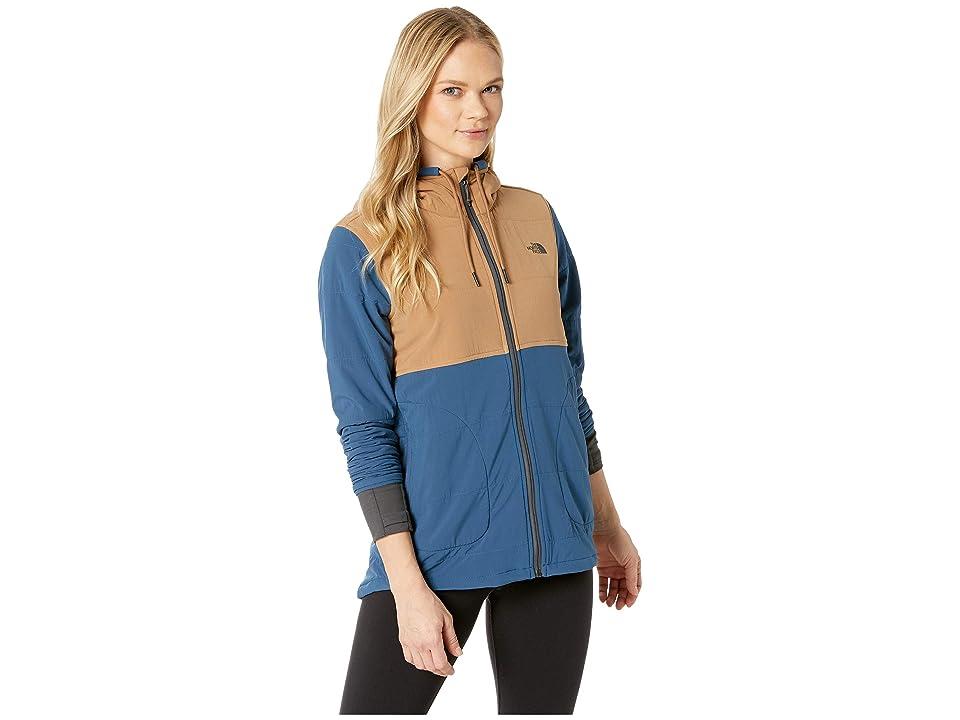 The North Face Mountain Full Zip Sweatshirt (Blue Wing Teal/Cargo Khaki) Women