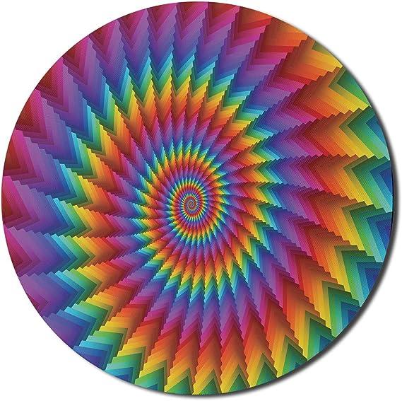 Lumière rayonnante de Rainbow spirales Tapis de souris//Pad /& Coaster