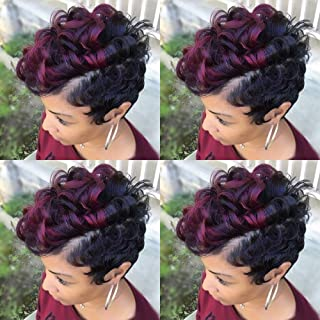 black and red two tone hair