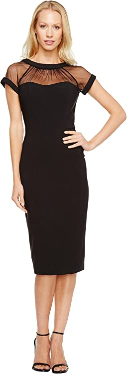 Maggy London Illusion Top Crepe Dress