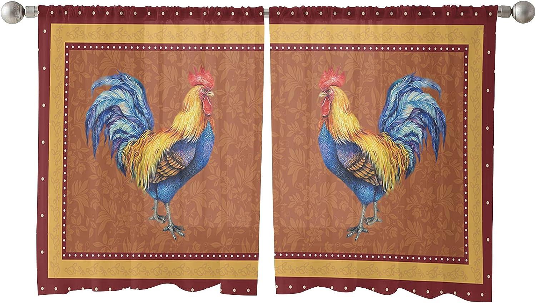 2 PCS Semi-Sheer Nashville-Davidson Mall Curtains 45 Long-awaited Inches - Pane Voile Rod Pocket Long