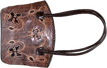 لافيري حقيبة جلد للنساء - بني - حقائب تحمل من الاعلى