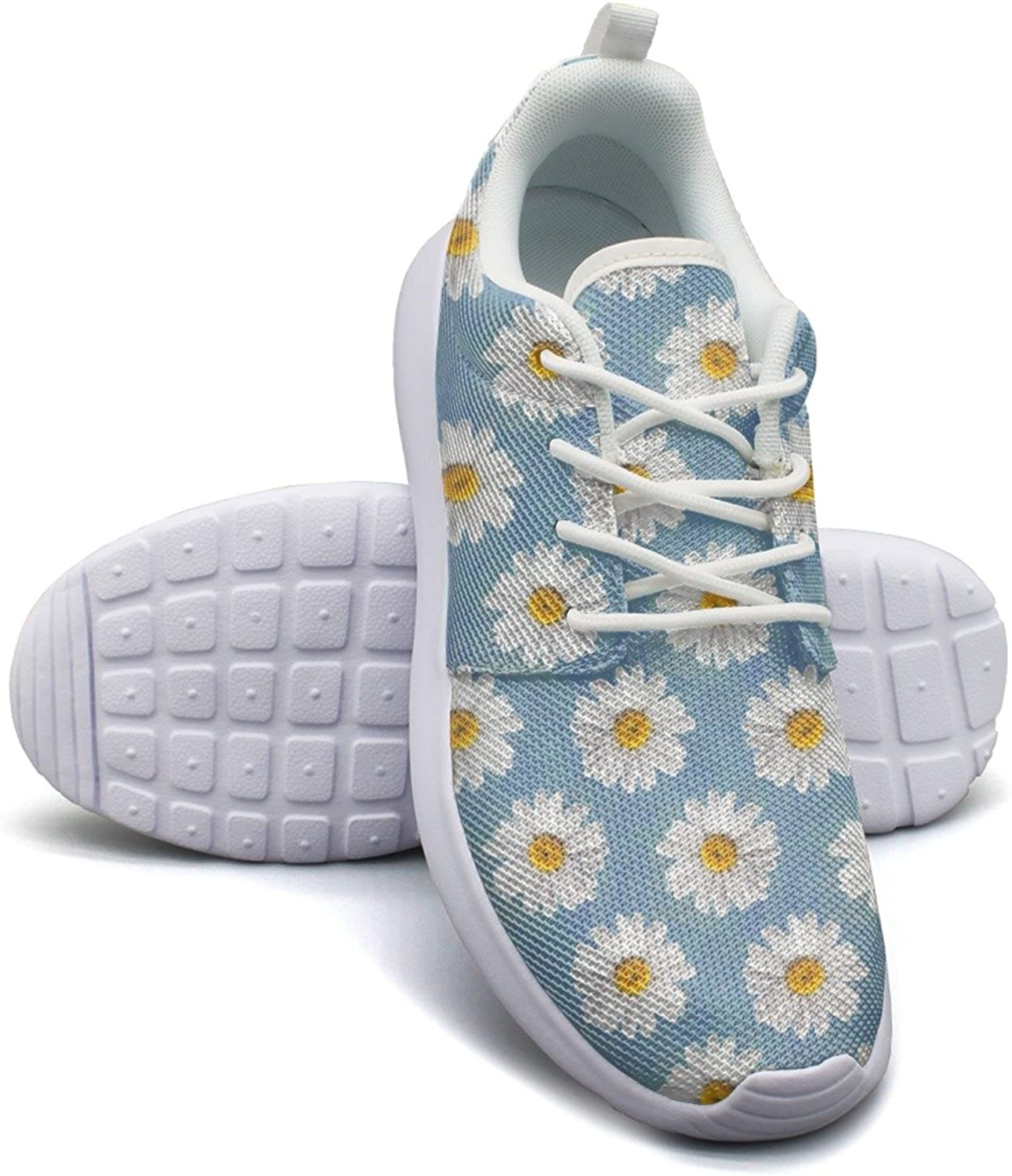 Eoyles gy Daisy Repeat Flower Beautiful Women Slip Resistant Lightweight Running Sneakers shoes