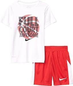 Full Court Awesome Tee & Sorts Set (Little Kids)