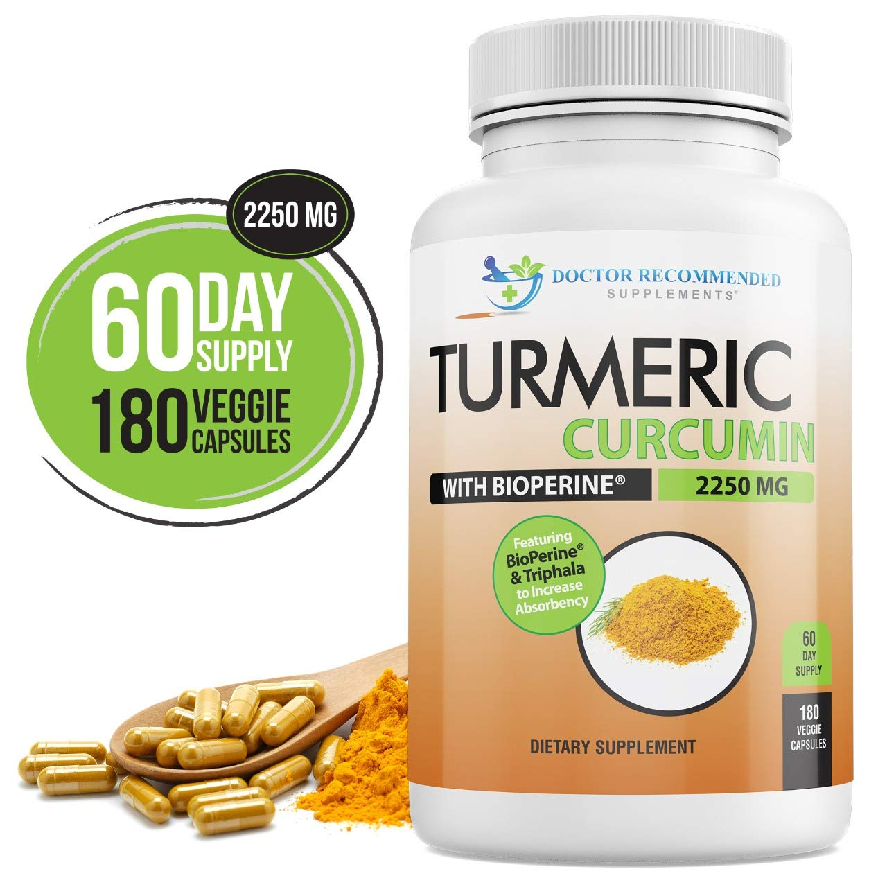 Turmeric Curcumin Curcuminoids Bioperine Supplement