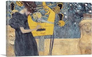 ARTCANVAS Music I 1895 Canvas Art Print by Gustav Klimt - 26