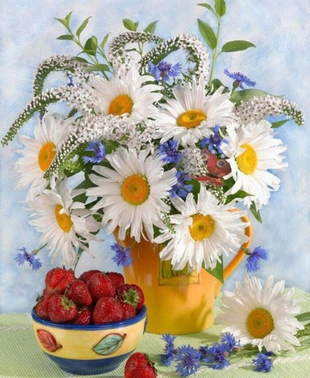 YHKTYV Flower Arrangement and Max 76% OFF Strawberries Limited time cheap sale 120 Puzzles Piece DIY