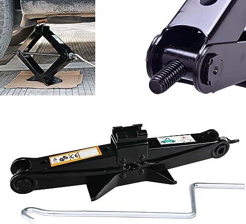 high quality RustProof 2T Tonne Scissor Lift Jack Car wholesale Van Wind Up with Effortless Chromed Crank sale Handle US Stock online