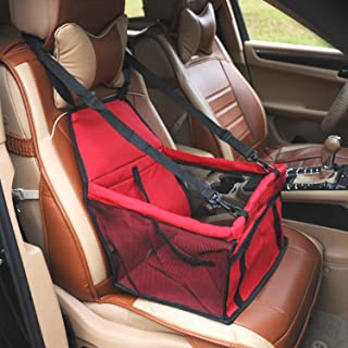 ZQQ Dog Seat, Mesh Breathable Belt Internal Traction Rope Safety Seat Car Mat, Suitable for Car Co-Pilot Position