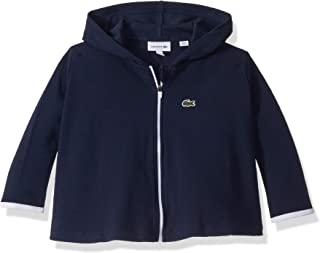 Lacoste Girls Athleisure Pique Double Face Hoody Sweatshirt