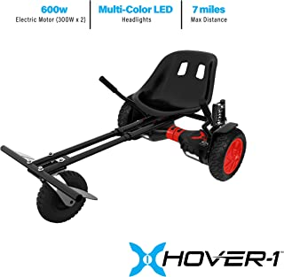 HOVER-1 Charger Electric Hoverboard and Go-Kart Attachment Combo (2 Piece Set)
