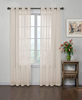 Curtain Fresh Arm and Hammer Odor Neutralizing Sheer Voile Grommet Window Curtain for Bedroom or Living Room (1 Panel), 5...