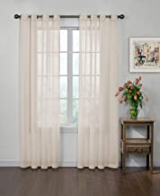 "CURTAIN FRESH Sheer Curtains for Bedroom - Arm and Hammer 59"" x 84"" Light Filtering Single Panel Grommet Top Window Treatm..."