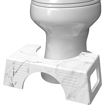 """Squatty Potty Carrara Marble Toilet Stool 7"""", Gray"""
