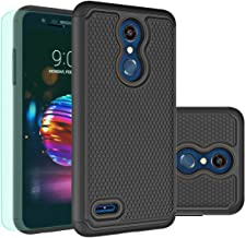 LG K30 Case,LG K10 2018 Case with HD Screen Protector Huness Durable Armor and Resilient Shock Absorption Case Cover for LG K10 2018,LG K30 Phone (Black)