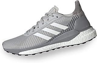 adidas Solar Glide ST 19 Women's Running Shoe, Grey/Footwear White/Solar Orange