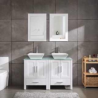 Best 52 double sink bathroom vanity Reviews