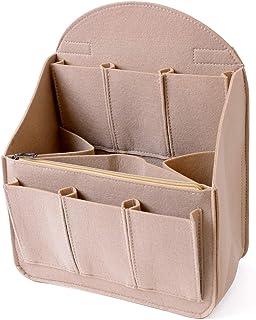 【SIMPS】リュックインバッグ (大容量)インナーバッグ バックインバッグ フェルト 12ポケット 小物収納 A4 B4 B5 縦型 整理 仕分け メンズ レディース 軽量 背面ハンドル付き