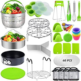 Sugaroom 101 PCS Pressure Cooker Accessories Set Compatible with Instant Pot Accessories 6 qt 8 quart - 2 Steamer Baskets,...